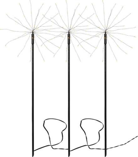 LED Gartenstecker Feuerwerk bis 180 LED Gartendeko warmweiß daylight bunt Trafo