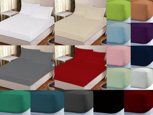 percale fitted sheets 30cm deep non iron easy care single double king super king