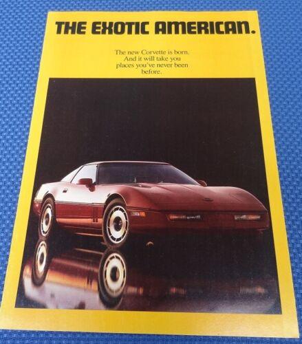1984 Chevrolet CORVETTE C4 Color Dealership Sales Brochure New Old Stock