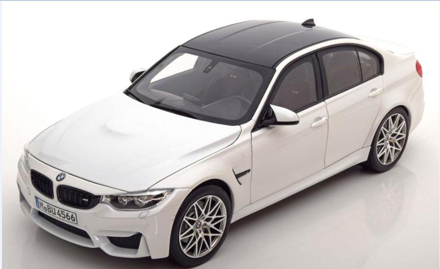 Bmw m3 f80 1,18 modell mini - auto einziehbaren weiße 80432411552