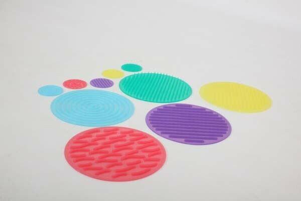 Silishapes Sensorielle cercles, pack de 10 Silicone texturé Disques, SEN Autisme ASD