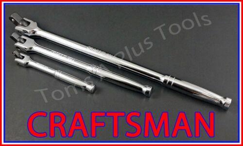 CRAFTSMAN 3pc FULL POLISHED Flex T-Handle Breaker Bar Ratchet Socket Wrench set