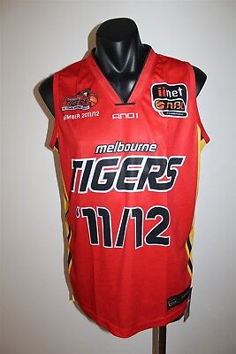 Disciplined Melbourne Tigers Basketball Nbl Jersey Member 11/12 Men's Size Medium Bnwt Pretty And Colorful Other
