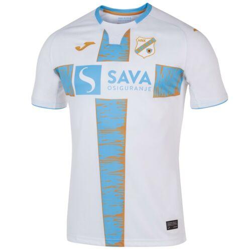 Joma HERREN Hnk Rijeka Fußball Trikot Heim Weiß Blau 5 Ein Seite Neu mit Etikett