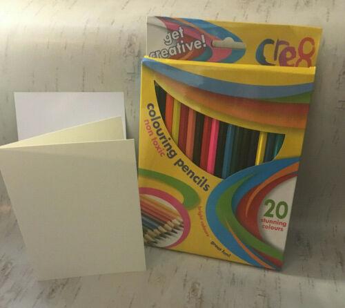 Kids Craft rendono i propri biglietti d/'auguri MATITE KIT SAN VALENTINO COMPLEANNO PASQUA