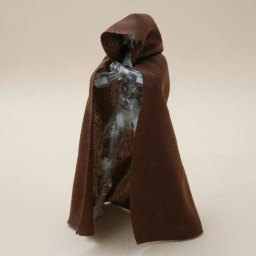 1:12 Scale Brown Cape Cloak With Hat For Bandai SHF figma Body Doll no figure