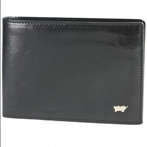 Braun-Buffel-Basic-V-Credit-Card-Wallet-Holder-Case-Leather-12-5-cm-nachtschwar