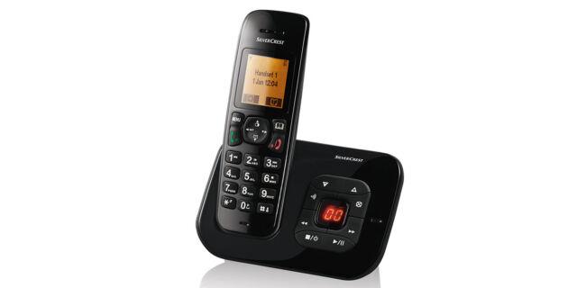 Komforttelefon DECT schwarz Anrufbeantworter Schnurlos SilverCrest Telefon