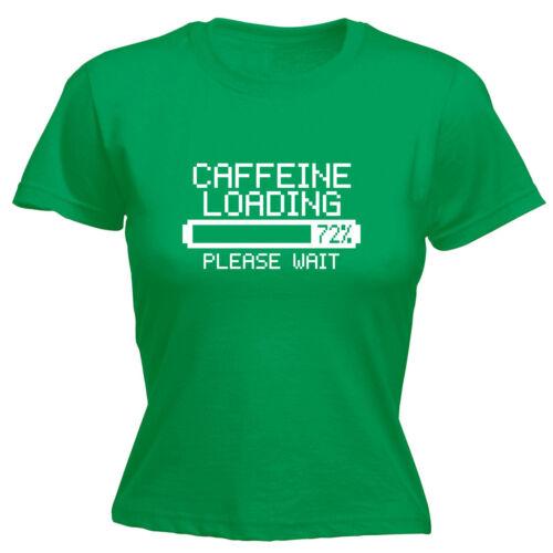 Caffeine Loading Ladies T-SHIRT Coffee Espresso Latte Retro Funny Gift birthday