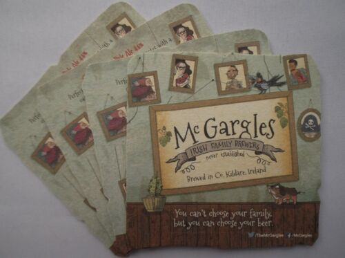 McGARGLES CHOOSE IRISH BEER COASTER BEER MAT x 4