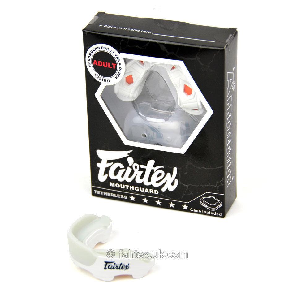 Fairtex Gel MG3 Mundschutz Weiß Weiß Weiß Mundschutz Zahnschutz Schutz 7a3215