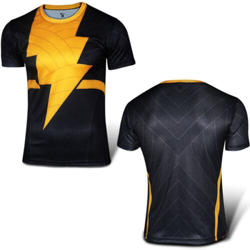 Men Compression Marvel Superhero Short Sleeve T-shirt Gym Base Layer Sport Tops