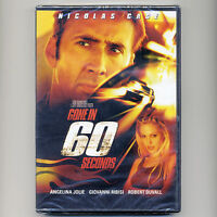 Gone In 60 Seconds 2000 Pg-13 Action Heist Robery Movie, Dvd N Cage, A Jolie
