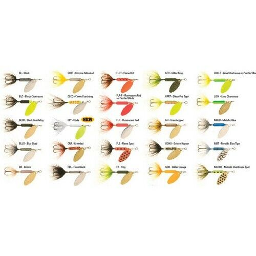 Rooster Tails 212-A14 Assorted 1//4 oz Fishing Spinnerbait Freshwater Lure