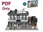 Lego-Custom-Modular-Brick-Bank-mit-Cafe-10251-Anleitung-PDF-nur Indexbild 1