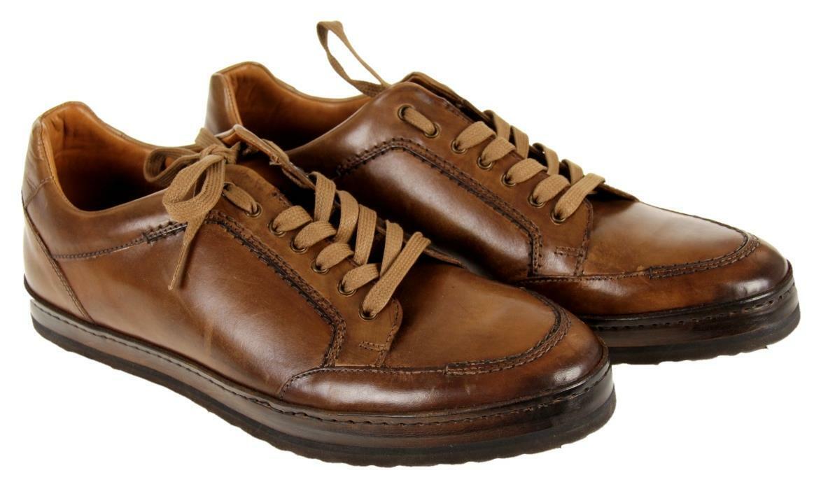 Zapatillas para hombre Frankfurt Mezlan Zapatillas Con Cordones De Cuero Marrón 9