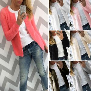 Women-Jacket-Slim-Knit-Solid-Coat-Cardigan-Sweater-Outwear-Short-Fall-Warm-Soft