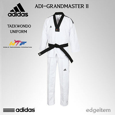 Estéril Rubí estático  Adidas GRAND MASTER 2 Taekwondo Dan Uniform WTF Dobok TKD ClimaCool  Technology   eBay