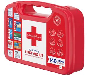 First Aid Kit Johnson & Johnson All Purpose Bag Set Box Medical Car Kit Supplies