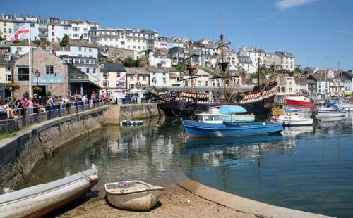 Photos Print A4 A3 or CANVAS 001 Brixham Harbour Devon England