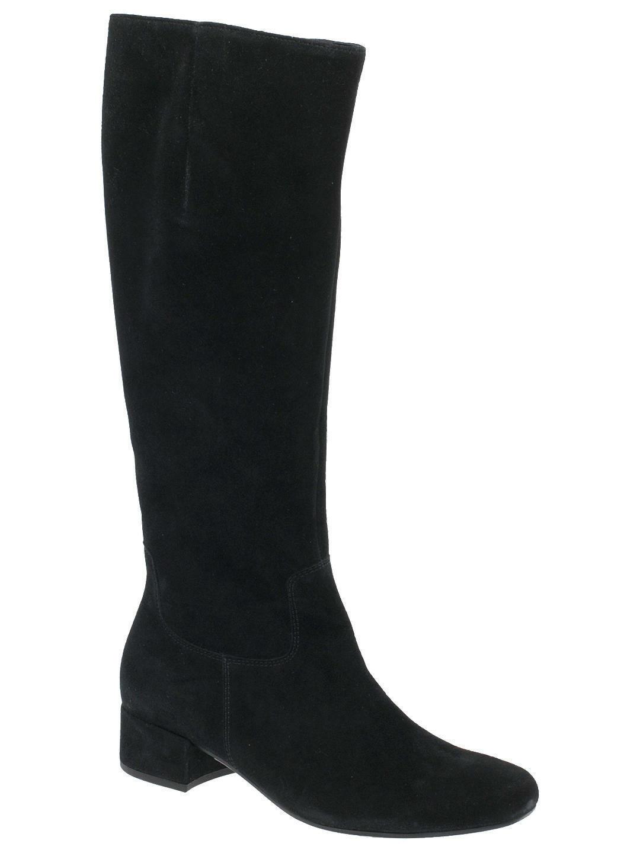 Nuevas botas de ante para mujer largo Gabor Jorgie Negro