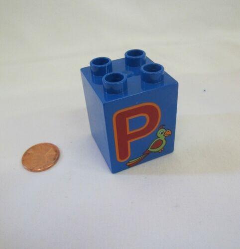 Lego Duplo ALPHABET LETTER P Replacement 2 x 2 x 2 BLOCK Building Brick Part