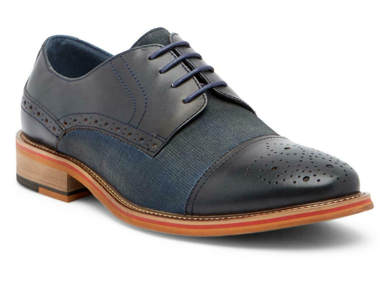 New in Box -  Vintage Foundry Zodiac Cap Toe Navy Leather Derby Size 9.5