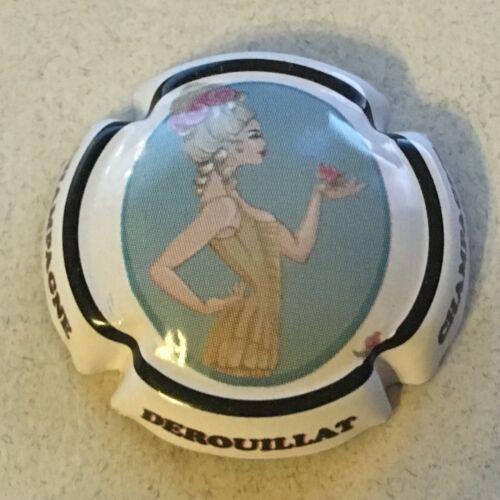 Capsule de champagne DEROUILLAT 16f. Contour blanc