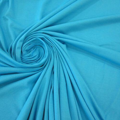 Stoff Meterware Baumwolle Jersey aqua blau Tricot T-Shirt weich NEU
