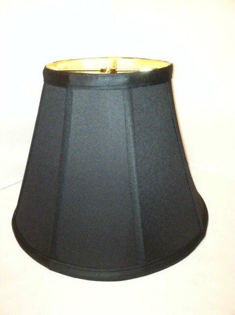 "14"" Empire Anna Black Gold Liner Lampshade Empire Fabric Lamp Shade PB.Spider."