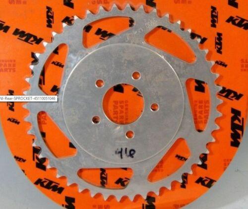 OEM KTM REAR SPROCKET 46 TOOTH 50 2004-05 50 SX PRO SR SX 2006-2008 45110051046
