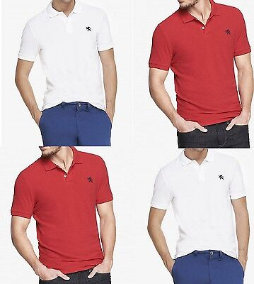 NWT MEN/'S Fitted Small Lion Pique Polo Shirt Pure ALL SIZE