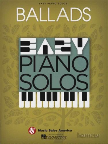 Ballads Easy Piano Solos Sheet Music Book