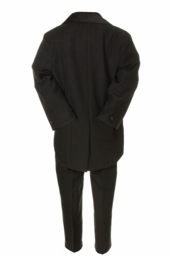 Toddler /& Boy S M L XL 2T 3T 4T-20 Black Wedding Formal Tuxedo Tail Suit 4 Baby