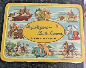 1954 Roy Rogers and Dale Evans Double R Bar Ranch Metal Lunchbox and Thermos
