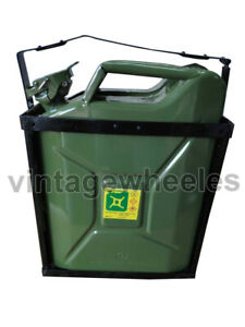 Jerry Can Green Colour With Holder (10 Ltr) For Ford Willys Jeep