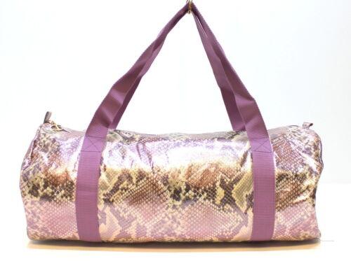 Just Cavalli Snakeskin Purple Pink Ladies Gym Robert Cavalli Weekend Bag