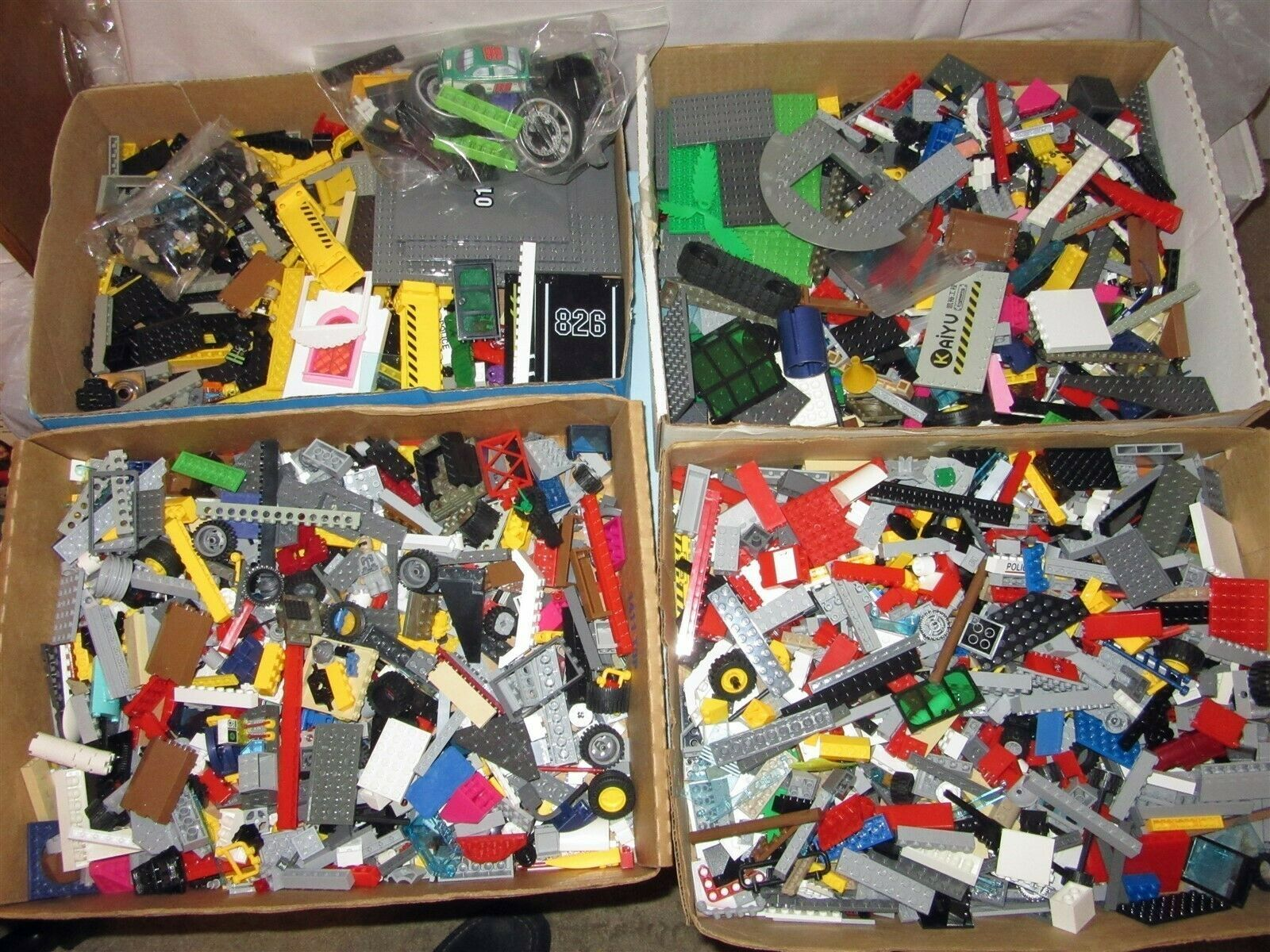 10 lbs Bulk Building Parts Mixed Lot most Unmarked some Kazi K'nex