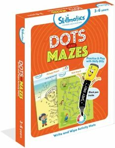 Skillmatics-Pois-amp-Labyrinthes-12-Paquet-Activite-Tapis-Ecrit-amp-Lingette-Voyage