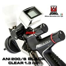 Ani 200s Black Clear 10 Mm Spray Gun With Digital Manometer In Briefcase