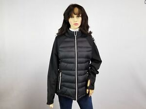 ed45179d3 Details about Tommy Hilfiger Women's Short Packable Down and Knit Logo  Jacket Size Large