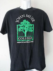 Black-UNIVERSITY-OF-SAN-DIEGO-JOHN-MUIR-COLLEGE-Tee-Shirt-M-UCSD-Tree-T-UC