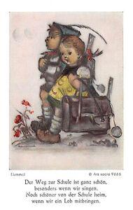 """Fleißbildchen Heiligenbild Gebetbild Hummel Holy card Ars sacra/"""" H1077/"""""""