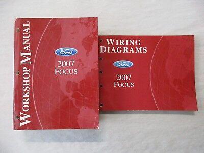2007 ford focus service shop repair manual  wiring diagrams set  ebay