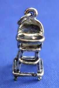 Baby High Chair Sterling Silver 3D Bracelet Charm Pendant Gift Embellishment 925