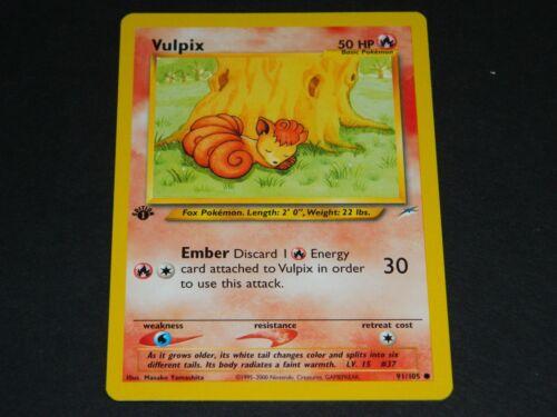 Pokemon 1st Ed NM//M Condition Neo Destiny Set COMMON Vulpix 91//105
