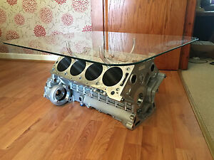 Cosworth Race V8 Engine Block Coffee Table Natural Metal Finish Ebay