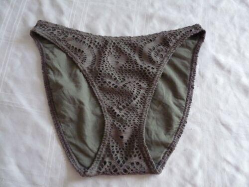 BNWOT ladies khaki green lace bikini bottoms ~ UK Size 12