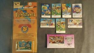 Flintstones-Collectibles-Complete-Set-11-Phone-Cards-including-2-Rare-Cards