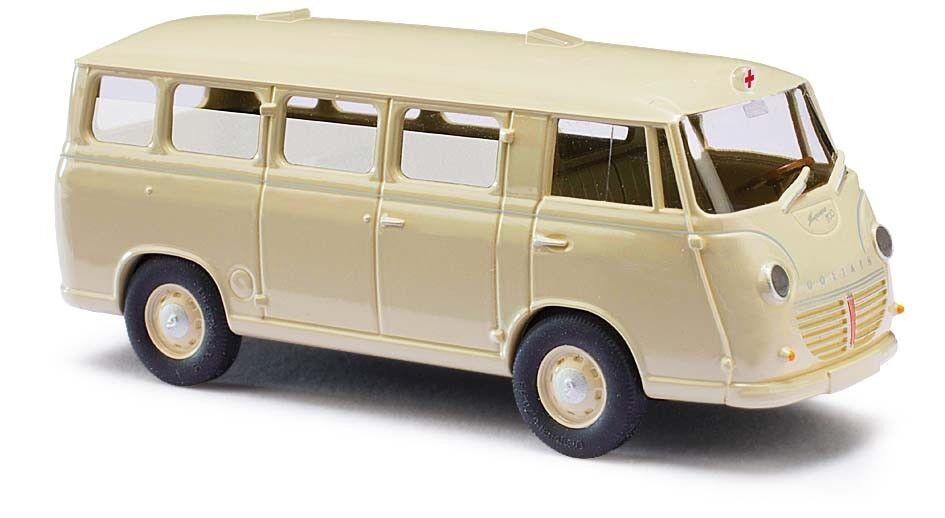 Busch 94124, 3k  Goliath Express 1100 Estate Ambulance, Model 1 87 (H0)